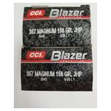 Lot of 2: 50 Round boxes of CCI blazer .357 mag JH