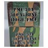 Lot of 4: 50 Round boxes of PMC .30 carbine 110 gr