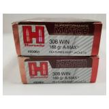 Lot of 2: Boxes of Hornady .308 Win casings only