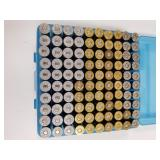 100 Round plastic ammo box of .44 Rem mag, at leas