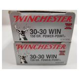 Lot of 2: 20 round boxes of Winchester 30-30 150 g