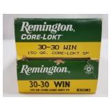 Lot of 2: 20 round boxes of Remington 30-30 core-l