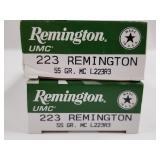 Lot of 2: 20 round boxes of Remington .223 55 grai