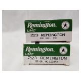 2 20 Round boxes of Remington .223 55 Grain, MC Ca
