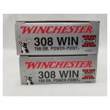 2 20 Round boxes of Winchester .308 180 grain Powe