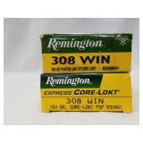 2 20 Round boxes of Remington .308 150 grain, core