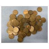 Bag of various dated wheat pennies  unresearched
