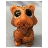 "Wax candle in the shape of a tiger about 4.5"" tall"