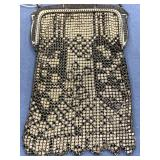 "Retro enamel on chainmail purse, approx. 7"" long"