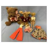 Lot including: Vintage stuffed Teddy bear, about 9