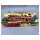 Vintage battery operated Express Locomotive still