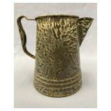 "Enamelware pitcher about 7.25"" tall             (i"