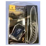 Knife and cap light combination set by Browning fo