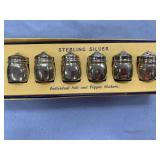 6 Piece set of sterling silver salt and pepper sha