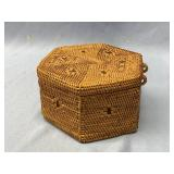Hand made basket, hand woven with beautiful design