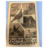 "Paper back book ""Game Birds of Washington"" (P 1)"