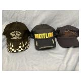 Lot of 3 trucker style ball caps            (P 1)