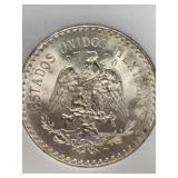 Silver 1932 Mexican peso graded MS64 by NNC