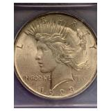 1923 Silver peace dollar MS65 by ICG