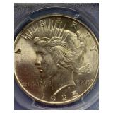 1925 Silver peace dollar MS63 by PCGS
