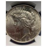 1922 Silver peace dollar MS62 by NCG