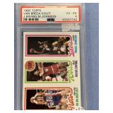 1980 Topps basketball card with Magic Johnson, Irv