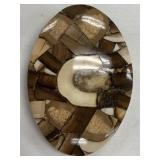 Fossilized ivory walrus and mammoth ivory belt buc