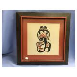 Robert Davidson matted and framed print of a Tling