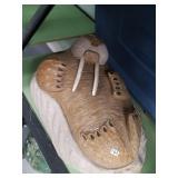 Michael Scott soapstone Walrus, oosik carved tusks