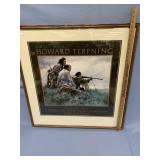 """Howard Terpning, double matted and framed print, """""""