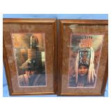 Lot of 2,G. Peterson double matted and framed, sig