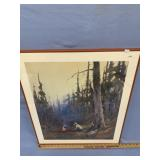 Sydney Laurence framed print, Miner cooking in the