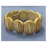 Carved bone stretch bracelet        (P 1) P1527