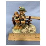 Porcelain Hummel figurine with 2 children and shee