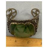 Mexican silver bracelet not hallmarked, with large