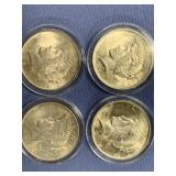 Lot of 4 Peace silver dollars  1922, 1923, 1923, 1