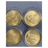 Lot of 4 Peace silver dollars  1923, 1926, 1925, 1