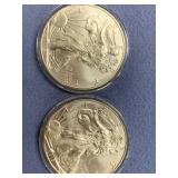 Lot of 2 2015 Silver American Eagle $1 coins