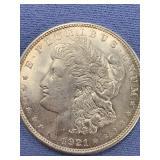 1921 D Morgan silver dollar          (33)