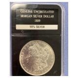 1889 Morgan silver dollar        (33)