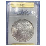1889 Morgan silver dollar graded MS57 SGS        (