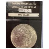 1884 O Morgan silver dollar        (33)