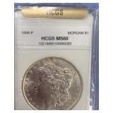 Morgan silver dollar 1888 MS66 by HCGS        (33)