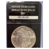 Morgan silver dollar 1882 S         (33)