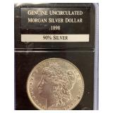 Morgan silver dollar 1898         (33)