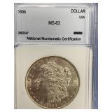 Morgan silver dollar 1896 MS63 by NNC        (33)