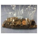 Bag full of unresearched wheat pennies  (M 613)