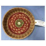 Hand woven basket made from Georgia longleaf pine