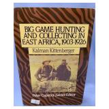 """Hardback book, """"Big Game Hunting and collecting in"""