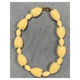 Beaded ivory bracelet, bead shape resembles sea po